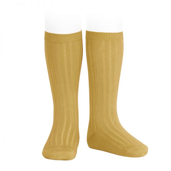 wide-ribbed-cotton-knee-high-socks-curry
