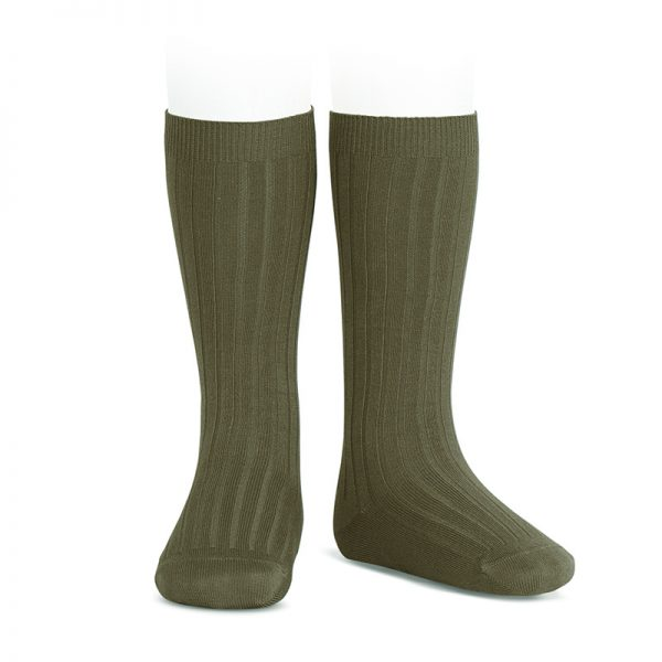 wide-ribbed-cotton-knee-high-socks-seaweed