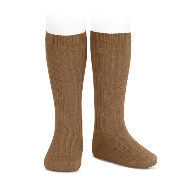 wide-rib-knee-high-socks-toffee