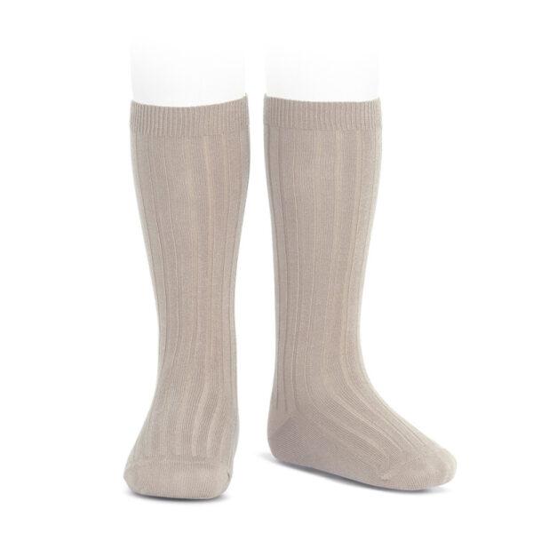 wide-rib-knee-high-socks-stone