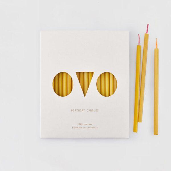 Ovo things verjaardagskaarsen bijenwas 20 stuks 2