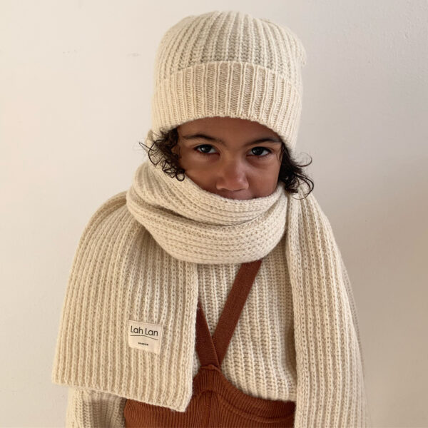 Lah Lan Knitted Scarf The Milk Minimalist