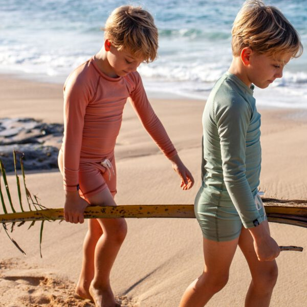 Beach and bandits zwembroek swimshort basil clay 2