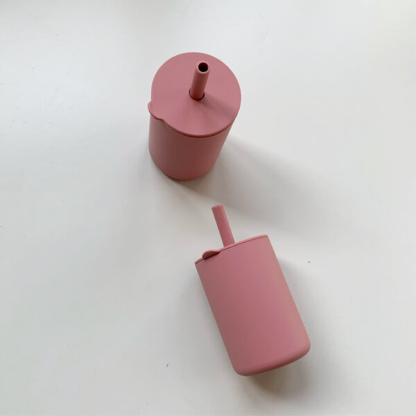 Siliconen drinkbeker roze 3