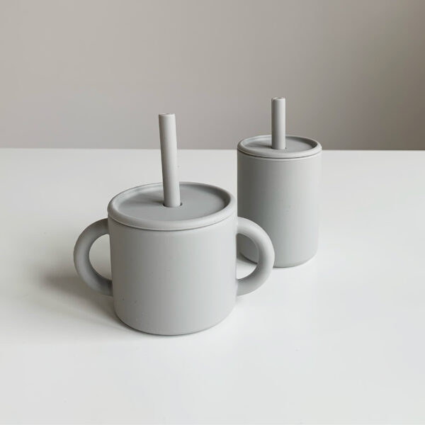 The Future Artist Silicone Training Cup with Straw Cloud 3