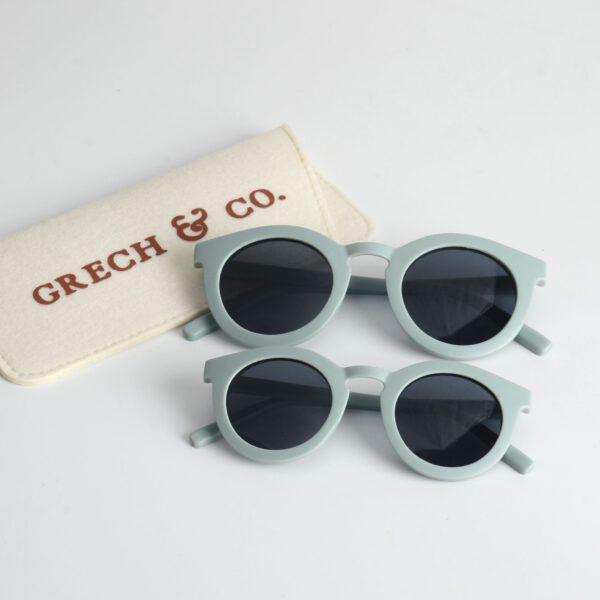 grech & Co zonnebril adult and kind light blue