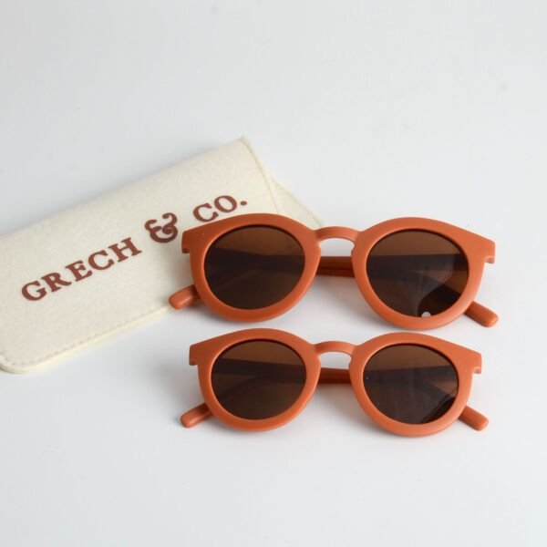 grech & Co zonnebril adult and kind rust